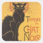 La tournée du Chat Noir Square Sticker