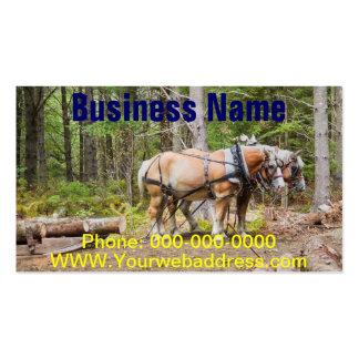 La tracción de los caballos abre una sesión las tarjetas de visita