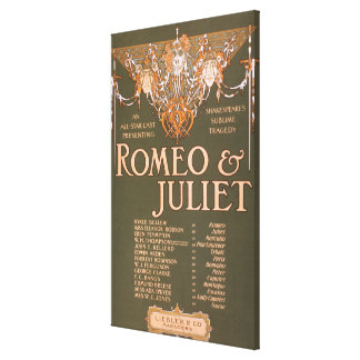 """La tragedia sublime """"Romeo y Juliet """" de Shakepear Impresión De Lienzo"""