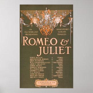 """La tragedia sublime """"Romeo y Juliet """" de Shakepear Posters"""