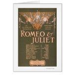 "La tragedia sublime ""Romeo y Juliet "" de Shakepear Tarjetas"