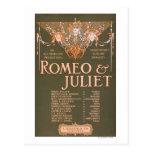 """La tragedia sublime """"Romeo y Juliet """" de Tarjeta Postal"""