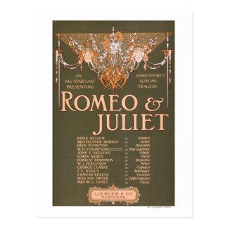"La tragedia sublime ""Romeo y Juliet "" de Tarjetas Postales"
