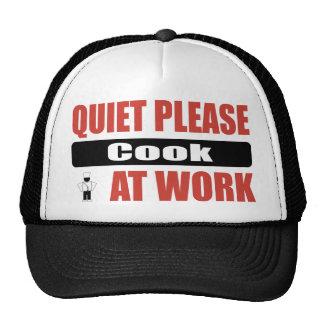 La tranquilidad cocina por favor en el trabajo gorros