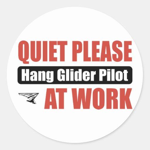 La tranquilidad cuelga por favor el piloto de etiqueta redonda