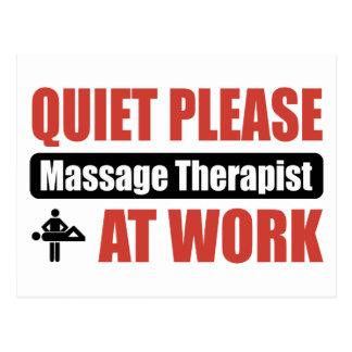 La tranquilidad da masajes por favor al terapeuta tarjeta postal
