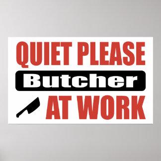 La tranquilidad mata por favor en el trabajo póster