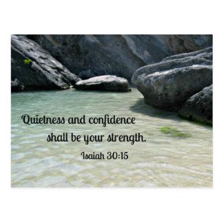 La tranquilidad y la confianza del 30:15 de Isaías Tarjeta Postal