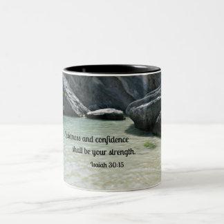 La tranquilidad y la confianza del 30:15 de Isaías Tazas De Café
