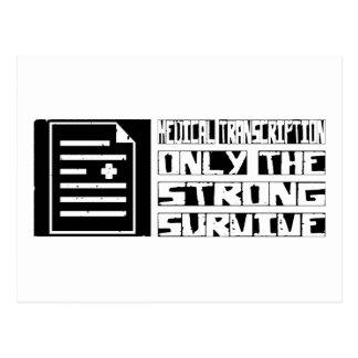 La transcripción médica sobrevive postal