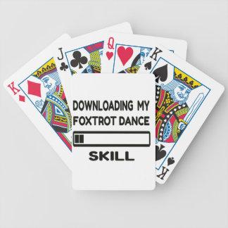 La transferencia mi Foxtrot habilidad de la danza Baraja Cartas De Poker