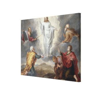 La transfiguración (aceite en el cobre) impresión en tela