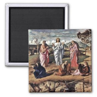 La transfiguración de Cristo Bellini Imán Cuadrado