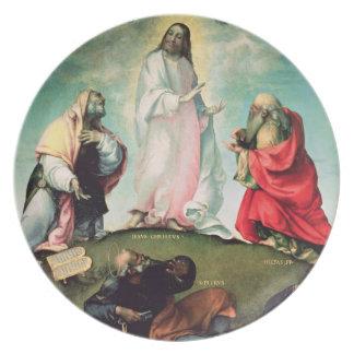 La transfiguración de Cristo, c.1510-12 (aceite en Plato De Comida