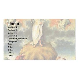 La transfiguración de Cristo por DES Unive de Meis Tarjetas De Negocios