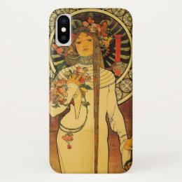 La Trappistine by Alfons Mucha iPhone X Case