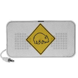 La travesía de Wombats, trafica la señal de iPod Altavoz