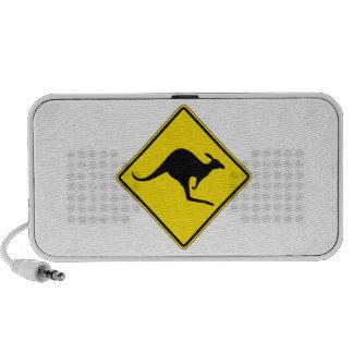 La travesía del canguro, trafica la señal de iPod altavoz