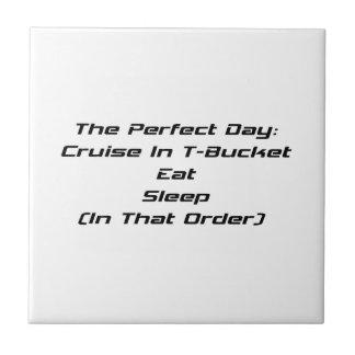 La travesía del día perfecto en Tbucket come sueño Azulejo Cuadrado Pequeño