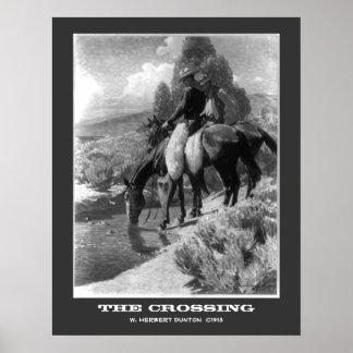 La travesía, vintage que pinta la impresión framab póster