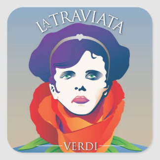 La Traviata, Opera Square Sticker