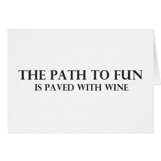 La trayectoria a la diversión 6 tarjeta de felicitación