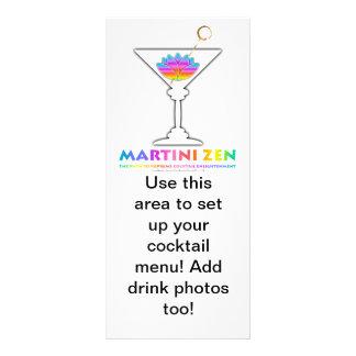 La trayectoria a la tarjeta del estante del menú d tarjeta publicitaria a todo color