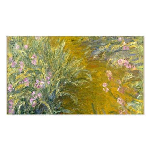 La trayectoria a través de los iris - Claude Monet Tarjetas De Visita