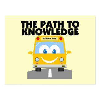 La trayectoria al conocimiento tarjetas postales