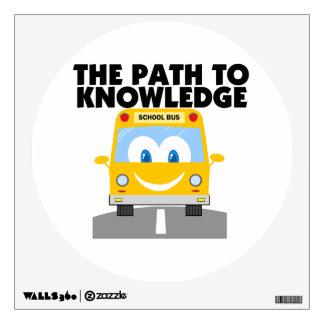 La trayectoria al conocimiento vinilo decorativo