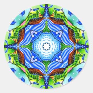 La trayectoria al nirvana pegatina redonda