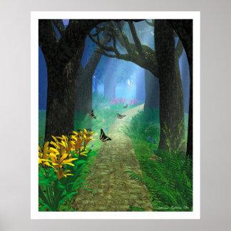 La trayectoria de bosque póster