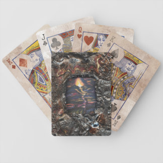 La trayectoria de la vida, quemada ofrecimiento baraja cartas de poker