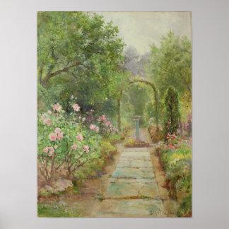 La trayectoria del jardín póster