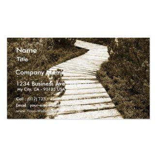 La trayectoria en la turba amarra en color de la s plantillas de tarjeta de negocio