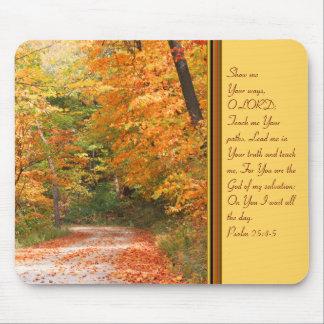 La trayectoria en otoño tapetes de ratón