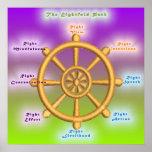 La trayectoria multiplicada por ocho noble (rueda  poster