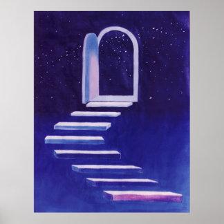 La trayectoria multiplicada por ocho y la puerta póster