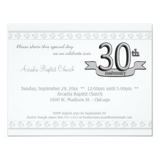 """La trigésima celebración del aniversario del invitación 4.25"""" x 5.5"""""""