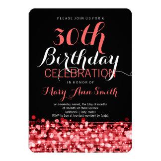 """La trigésima fiesta de cumpleaños elegante chispea invitación 5"""" x 7"""""""