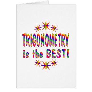 La trigonometría es el mejor tarjetas