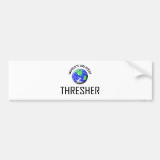 La trilladora más grande del mundo etiqueta de parachoque