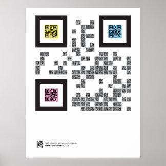 La trinidad en código de QR Posters
