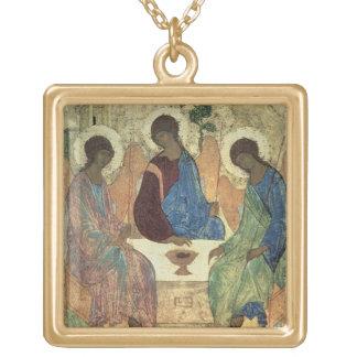 La trinidad santa, 1420s (tempera en el panel) grímpola