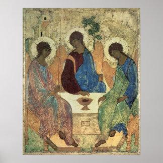 La trinidad santa, 1420s (tempera en el panel) póster
