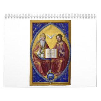 La trinidad santa de Jean Bourdichon circa 1508 Calendario De Pared