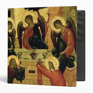 """La trinidad santa, escuela de Novgorod, siglo XV Carpeta 1 1/2"""""""