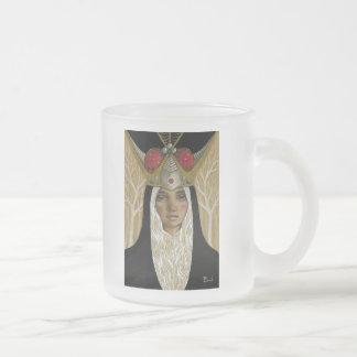 La Tristesse Couronnée Frosted Glass Coffee Mug