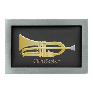 La trompeta apenas añade el negro conocido hebillas cinturón rectangulares