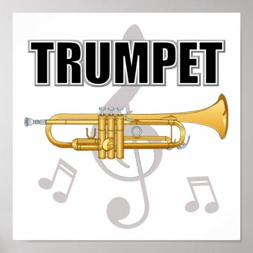 La trompeta observa el poster
